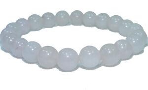 Bracelet de perles QUARTZ ROSE Pierres naturelles 8 mm 18cm ou sur mesure