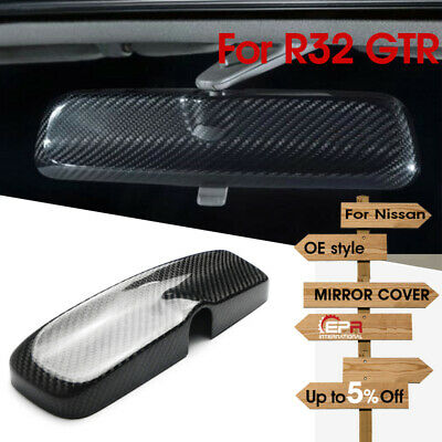 N.1 Interior Room Mirror Cover For Nissan R33 GTR GTST SPEC 1 R34 Dry Carbon