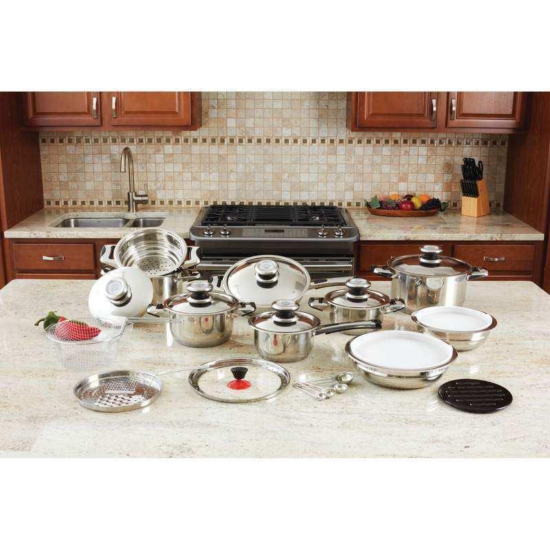 28 paix 12-élément de haute qualité épais Acier Inoxydable Cookware Set