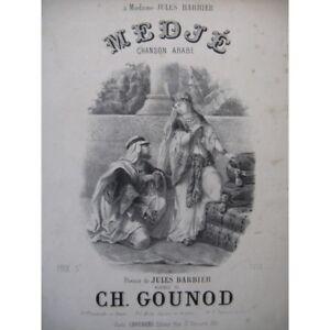 GOUNOD-Charles-Medje-Singer-Piano-ca1865-partition-sheet-music-score