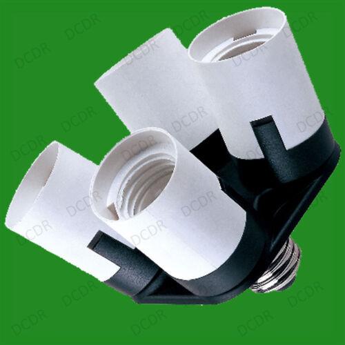 1x E27 to 4E27 Light Bulb Socket Splitter Adaptor Photography Lamp Base UK Stock