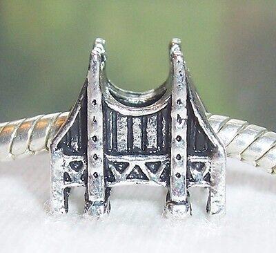 San Francisco California Golden Gate Bridge Charm Bead for European Bracelets