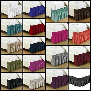 Bed-Skirt-Dust-Ruffle-14-034-Wrap-Around-Box-Spring-Bedding-KING-QUEEN-FULL-TWIN