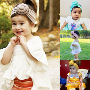 Newborn Baby Kids Girls Infant Tie Knot Headband Elastic Headwear ... 6de9f99e514