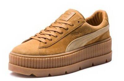 sports shoes 86ee0 8e7ef PUMA FENTY x RIHANNA (CLEATED CREEPER) SUEDE GOLDEN BROWN WOMENS SZ 9.5 NEW  NIB 191239266692 | eBay