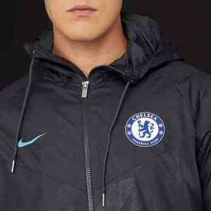 Détails sur Nike Chelsea 2017 2018 Authentic Coursevent Football Veste Taille XL afficher le titre d'origine