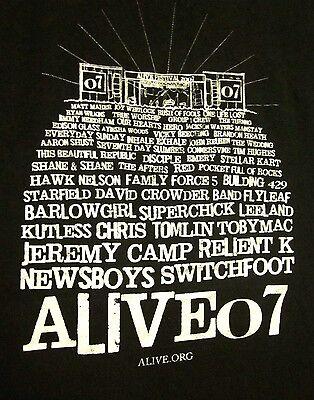 ALIVE FESTIVAL med T shirt 07 Switchfoot Newsboys Relient K tee Kutluss  Flyleaf | eBay