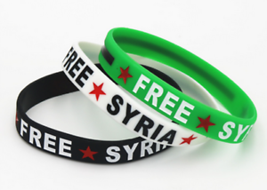 Gratuit Syrie Caoutchouc en Silicone Bracelet pays drapeau syrien Souvenir bracelet manchette