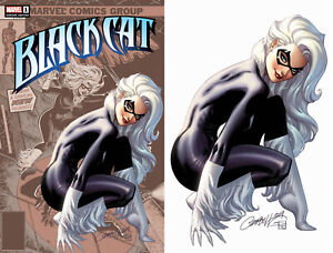 Black-Cat-1-Marvel-2019-J-Scott-Campbell-Amazing-Spider-Man-194-Set-Of-2-Variant