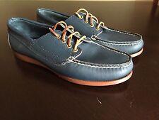Sebago Men's Size 7 Vintage Navy Blue Campsides Lace-Up Shoes