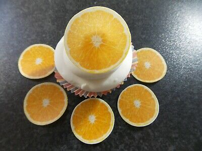 12 PRECUT Edible Orange Slices/fruit wafer/rice paper cake ...