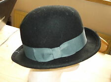 Boutique 100%Wool Bowler Derby Style Hat ONE SIZE Black/Grey Mix BNWT