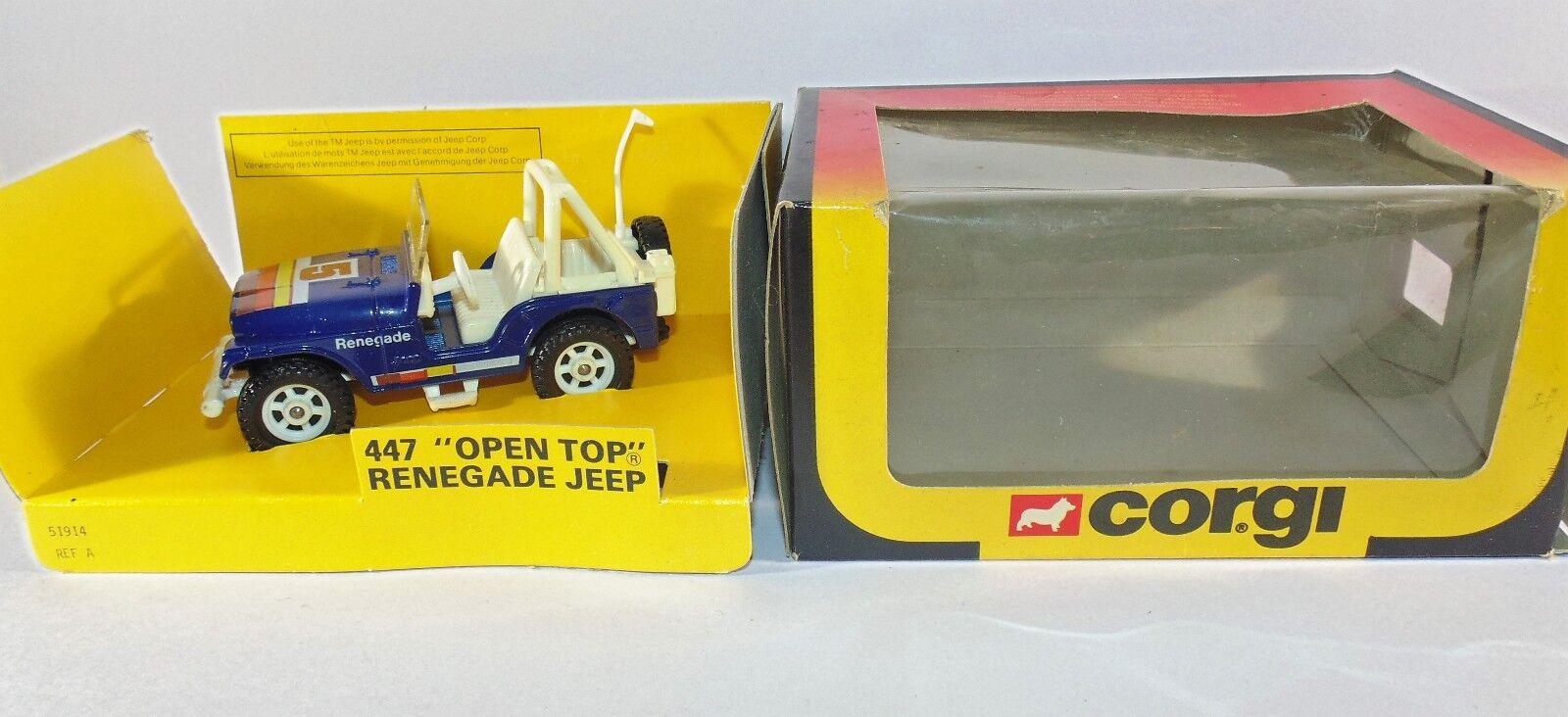 Diecast Corgi 447 Open Top Renegade Jeep Boxed