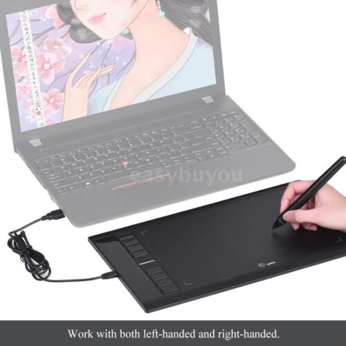 Ugee M708 Digital Graphics Art Design Drawing Painting Tablet Pad w// Pen