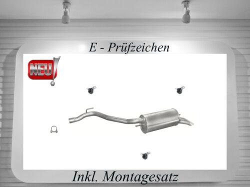 Endschalldämpfer VW Transporter T4 2.5 TDi Auspuff Endtopf Montagesatz