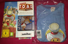 CAPTAIN TOAD EDITION LIMITEE NINTENDO WII U NEW + AMIIBO TOAD + T SHIRT TAILLE L