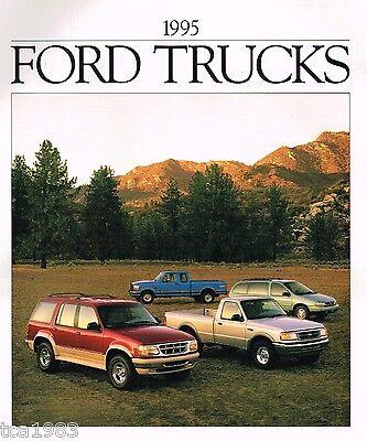 Plaketten F-serie,150,ranger,explorer,bronco,transporter, Hell 1995 Ford Truck's Broschüre Auto & Motorrad: Teile