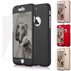 For Apple iPhone 7 Plus Hybrid Full Shockproof Slim Hard case + Tempered Glass
