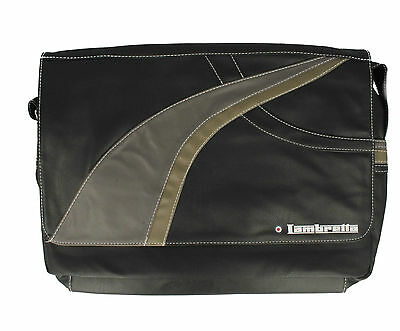 Lambretta Lap Top School Shoulder Bag TARGET Black or Brown (GO)