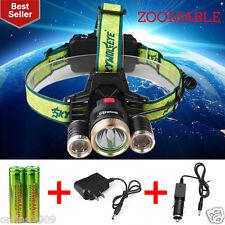 ZOOMABLE 15000LM CREE T6 LED Headlight 18650 Bicycle Lamp Skywolfeye Headlamp q