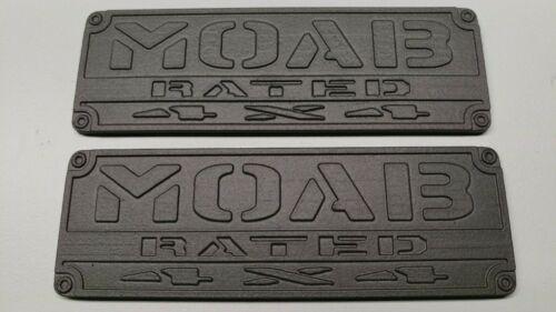 MOAB RATED EMBLEM for ORV HUMVEE H1 H2 H3 HUMMER JEEP YJ TJ JK JL FJ CRUISER
