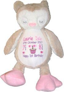 Image Is Loading Personalised New Baby Girl Teddy Owl Bear Newborn