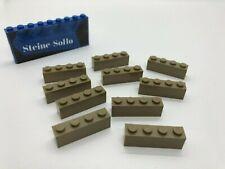 Lego 2x2 dunkelbeige Steine dark tan Brick 10 Stück 3003 aus 75139 neuwertig