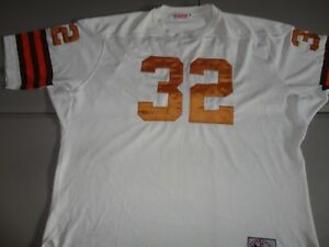 pretty nice 3221a 98a6c Jim Brown #32 SEWN CLEVELAND BROWNS 1964 Vintage THROWBACK ...