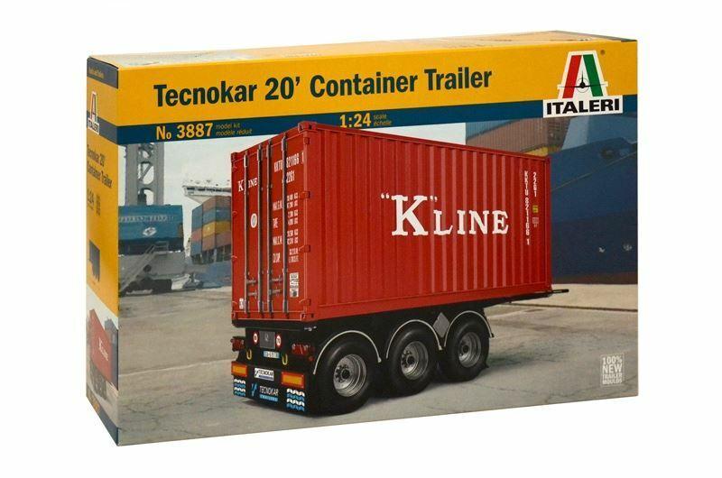 Italeri 20 Foot 'Tecnokar' Container Trailer 1 24 Scale