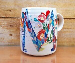 Starla M Halfmann Letter M Monogram Floral Petal Palette Anthropologie Mug