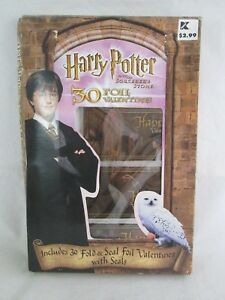 Harry-Potter-and-the-Socerer-039-s-Stone-30-Foil-Valentines-Cards-amp-Seals-Sealed