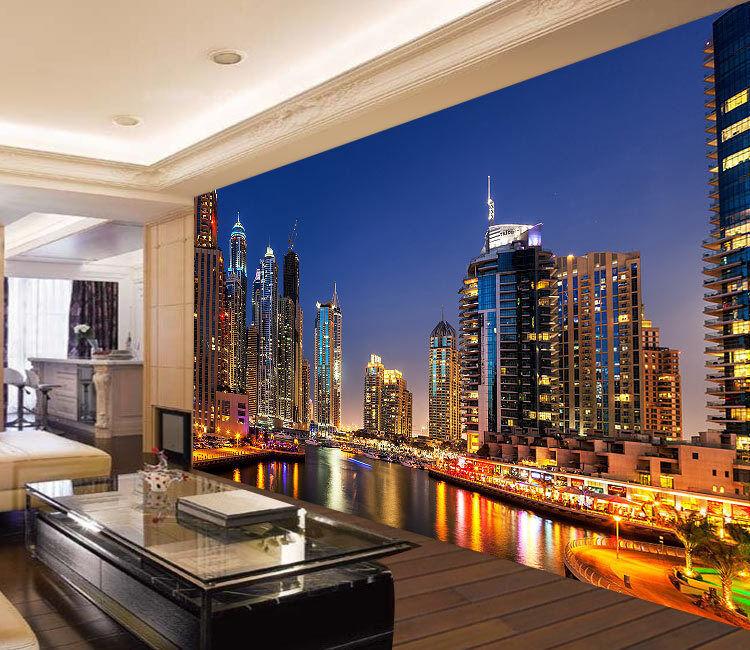 Dubai Mauritius Skyscrapers Full Wall Mural Photo Wallpaper Print Home 3D Decal