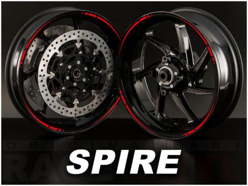 SPIRE Vinilos 100/% compatibles con Yamaha Pegatinas para llantas de moto