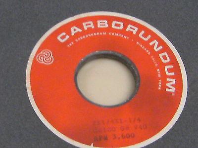 """GA120-G8-V40 Carborundum Grinding Wheel 7""""x1//4""""x1-1//4"""" medium"""