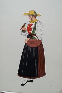 -2-5-4 Gravure Costume Paysanne De Pfitsch Autriche