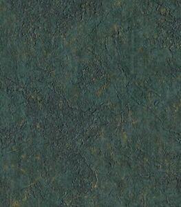 Wallpaper-Drk-Green-amp-Gold-Texture-Vinyl-Fabric-Backed