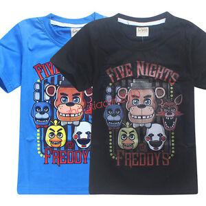 New-Kids-Five-Nights-at-Freddy-039-s-Summer-Sort-Sleeve-Tops-T-Shirt-Basic-Tee-Shirt