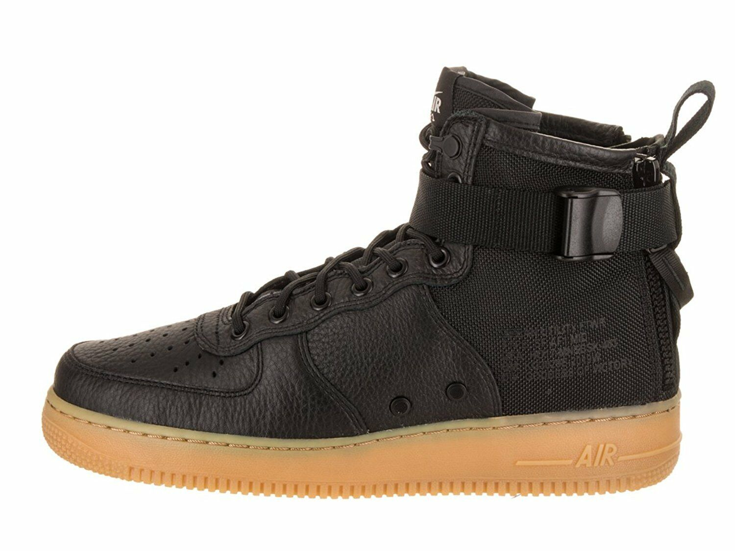 Nike SF Air Force 1 Mid Black Black-Gum Light Brown (917753 003)