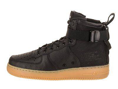 Nike SF Air Force 1 Mid (Black Black Gum Light Brown