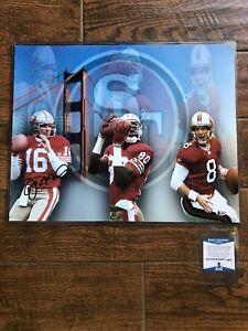 San-Francisco-49ers-Joe-Montana-AUTOGRAPHED-16x20-Photo-NFL-BECKETT-COA