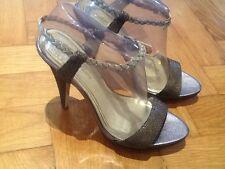 Juicy Couture New & Genuine Ladies Heeled Strappy Sandals UK 4.5, EU 37.5, US 7