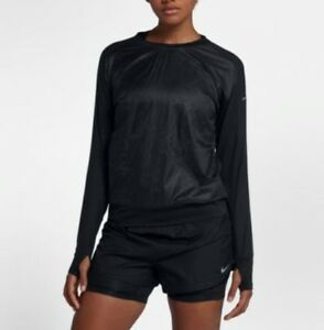 Details about Women's Nike Run Division Seasonal Shirt Black XSmall New WTag