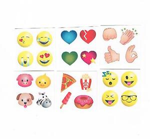 30-x-Cute-Kids-Emoji-Temporary-Tattoos-Party-Favours-assorted-designs