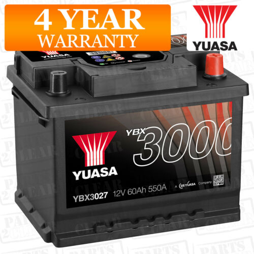 Yuasa Car Battery Calcium Black Case 12V 550CCA 60Ah T1 For Audi A4 B7 2.0 FSi