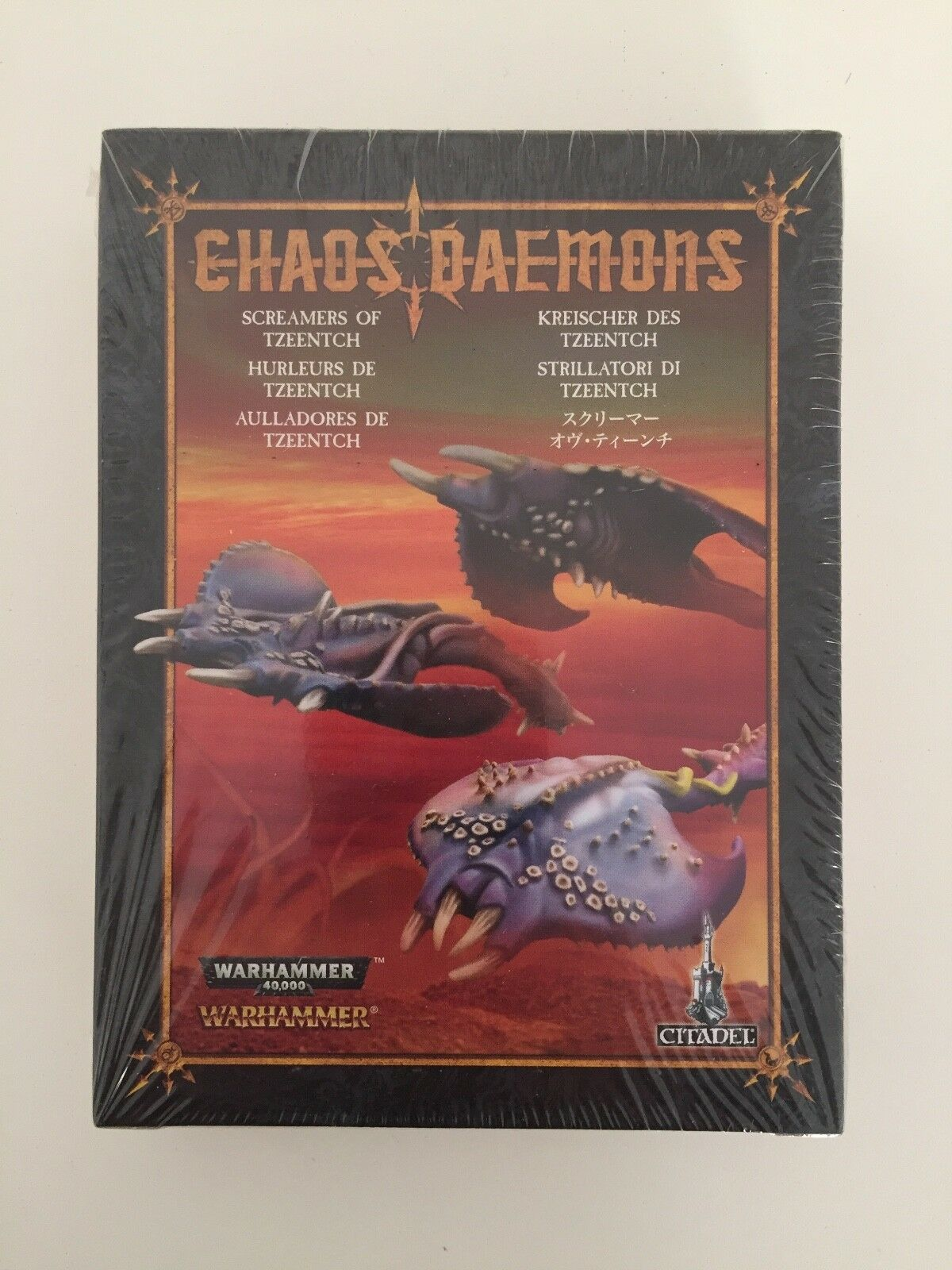 WARHAMMER AGE OF SIGMAR CHAOS SCREAMERS OF TZEENTCH DAEMONS BOXED SET METAL
