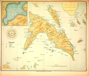 PHILIPPINE-ISLANDS-MASBATE-TICAO-1899-Original-Antique-Map