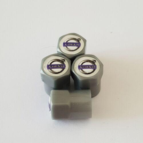 VOLVO tapones de polvo Válvula De Rueda De Plástico Gris todos los modelos de 7 Colores XC60 V40 S90 XC40