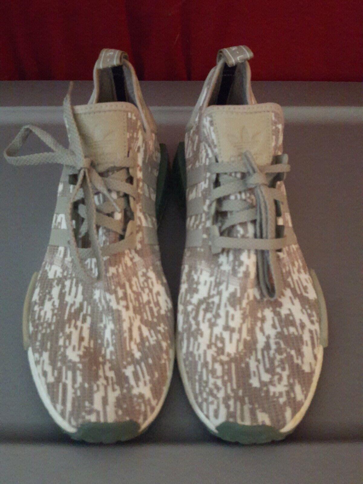 Adidas Originals män NMD - - - r1 springaning skor Trace grön   vit   Sesame Storlek  13  40% rabatt