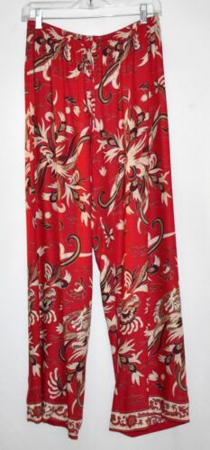 JANTZEN Red with White & Black Paisley Design Wome