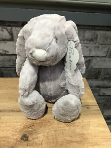 Personalised-Long-Eared-Baby-Bunny-Rabbit-Plush-Gift-Soft-Toy-31cm-Grey-EASTER